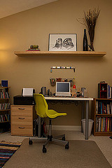 Decluttered office